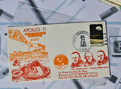 Letter 24 July 1969 Stamp 6 Cent Usa Apollo 11 Reentry And Descent