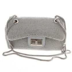 New Rhinestone Silver Evening Bag TLX143 SIL $25.99