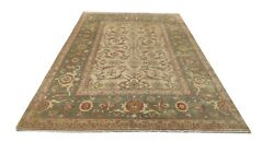 Antique Oushak Rug 9.1 X 6.0 Feet Hand Knotted Oriental Area Rug And Carpet
