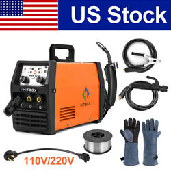 3in1 Mig Welder 110v 220v Flux Core Gasless Inverter Arc Tig Mig Welding Machine