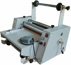 New 15 Steel Roller Hot Roll Laminator Singleanddual Sided Thermal Cold Laminator