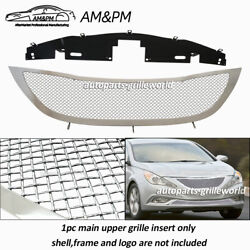 Fits 2011-2012 Hyundai Sonata Stainless Steel Mesh Grille Grill Insert