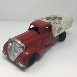 Metalcraft Sohio Oil Delivery Truck, Vintage 1930's W/two Oil Cans