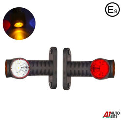 Led Outline Side Rear Marker Lights Position 2x Truck Lorry Trailer Wagon E9 Hq