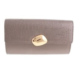 New Grey Leatherette Clutch Evening Bag WLY086 GRY $18.99