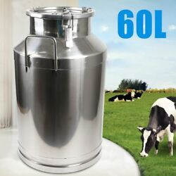 Milk Bucket Can Tank Embedded Siliconeseal Containers Stainless Steel 60l Usa
