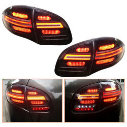 For Porsche Cayenne 11-14 Dark Led Tail Lights Sequential Replace Oem Rear Lamps