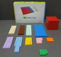 Demme Math U See Manipulatives Integer Block Kit Counting Home School Learning