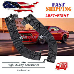 Pair Front Left And Right Bumper Support Brackets For Dodge Challenger 2008-2020 1