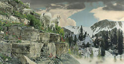 Rod Frederick On The Rocks Limited Edition Canvas Art Mountain Goats