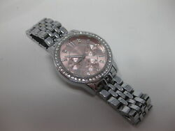 Relic Womenand039s Zr15752 Layla Silver-tone Watch Pink Rose Face Nice