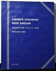 Liberty Standing Half Dollar Collection 1916-1936 - Whitman Folder Number One