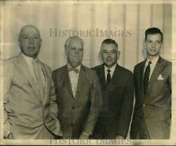 1961 Press Photo Officers In Freight Forwarding Merger Include Norcom Jackson Sr