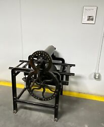 Antique Showpiece Single Cylinder Rotary Printing Press 1847-1900 - As Is