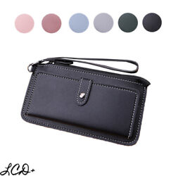 Women Leather Clutch Wallet Zip Long Purse Card Holder Phone Bag Case Handbag $8.95