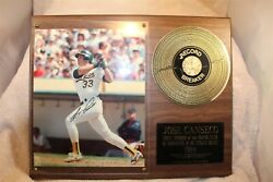 1988 JOSE CANSECO FIRST MEMBER OF THE 40 40 CLUB SIGNED PLAQUE 15quot; x 12quot; 2500