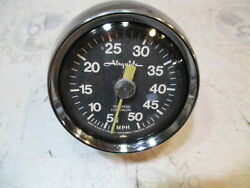 Vintage Airguide Marine Boat Speedometer Mph 5-50mph
