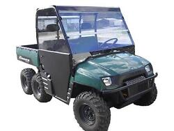 02-08 Polaris Ranger 800700 Clear Full Windshield..1/4 Thick Polycarbonate