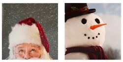 Father Christmas Santa Snowman Cards From Hallmark Pack Of 10 With 2 Designs