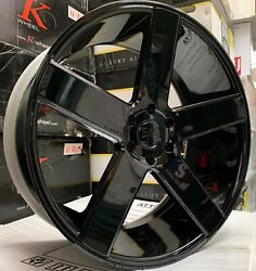 26and039and039 Dub Baller S216 Black Chevy Gmc Dodge Escalade Wheels Rims Tires New 6lugs