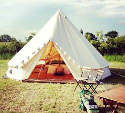 100 Cotton Canvas Waterproof Large Tents Outdoors Yurt Bell Tent Glamping