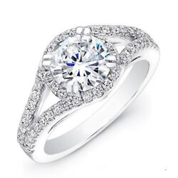 Promise 1.24 Ct Real Diamond 18k Solid White Gold Wedding Rings Size 6 7.5 8 9