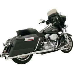 Bassani +p Bagger Duals Sys. W/ Pwr Curve 04-06 H-d Road King Cust.flhrs