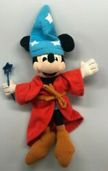 Vintage 1990 Mickey Mouse Fantasia Stuffed Animal With Wand Toy