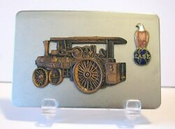 Case 36 60 65 Steam Traction Engine Tractor Old Abe Eagle Globe Logo Belt Buckle