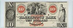10 Hagerstown Bank Maryland Bank Note Semi Nude Children Play W Wheat Red X Ovp