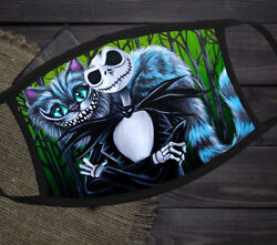 Jack Skellington and Cheshire Cat Nightmare Before Christmas Cloth Face Mask