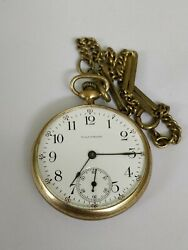 Rare Gold Filled Waltham Antique Pocket Watch Illinois Elgin Napoleon With Chain