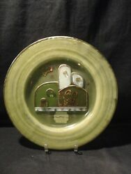 Neiman Marcus Decorative Nativity Scene Plate Green - Old Stock New With Tag