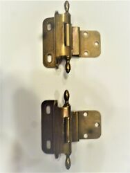 Amerock Self Closing 3/8 Overlay Cabinet Antique English Brass Hinges - Pair