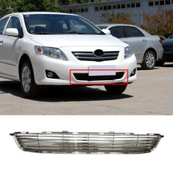 Abs Chrome Front Lower Bumper Mesh Grill Grille Fit For Toyota Corolla 2007-2010
