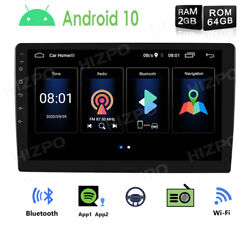 10.1 Car Stereo Radio Player 2+64gb Gps Navi Android Double 2din Wifi Subwoofer