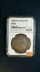 1803 Mo Ft Mexico Eight Reales Ngc Au55 8r Silver Coin Buy It Now