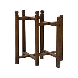 Chinese Double Square Rhombus Plant Vase Stand Pedestal Table Cs6001