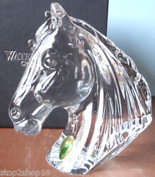 Waterford Crystal Horse Head Paperweight Sculpture 273594400 New In Box