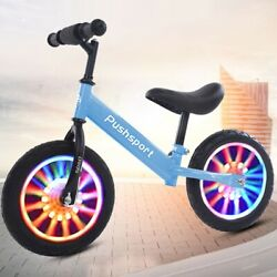 Kids Children Balance Bike Learning Walk Bicycle Walking Train Luminous Light