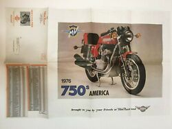 Vintage Motorcycle Poster Parts List 22 X 34 1976 750s America Domi Racer