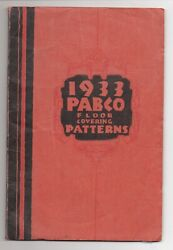 1933 Pabco Rug Floor Covering Trade Catalog In Color