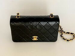 Authentic Lambskin Quilted Full Flap Mini