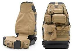 1987-2017 Jeep Wrangler And Cj Front G.e.a.r. Seat Cover Coyote Tan Each