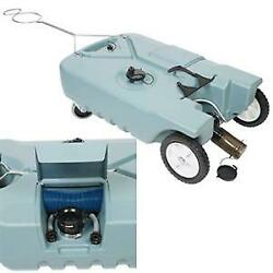 20123 Tote-n-store 4-wheel Design 25 Gal Portable Waste Holding Tank For Rv