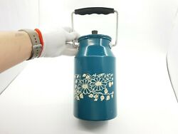 Rare Soviet Blue Painted Aluminum Cans With Lid And Handle 2 Liters Ussr 1970s