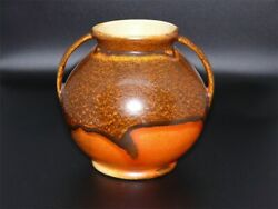 Rumrill Pottery Orange And Bay Glaze Vase 1930s Indian Group Series 302 Rare