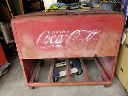1930s Coke Cooler Chest. Great Piece Of History.