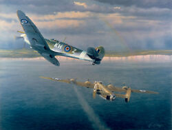William Phillips Welcome Home Yank Limited Edition Canvas B-24 Spitfire Mark 1xb