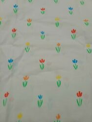 Vintage Berlington Carees Fitted Sheet And 2 Pillow Cases King Size Tulips...